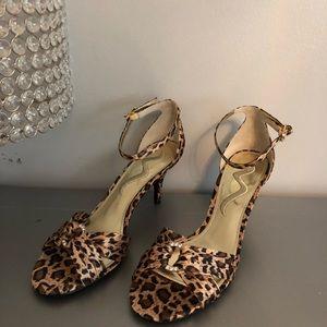 Nina leopard rhinestone heels, size 7, NEW!